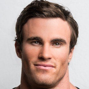 The 27-year old son of father (?) and mother Ingrid von Moger, 188 cm tall Calum Von Moger in 2017 photo