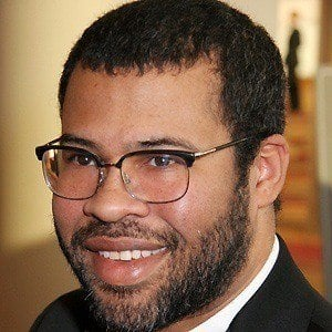 The 38-year old son of father (?) and mother(?), 175 cm tall Jordan Peele in 2017 photo